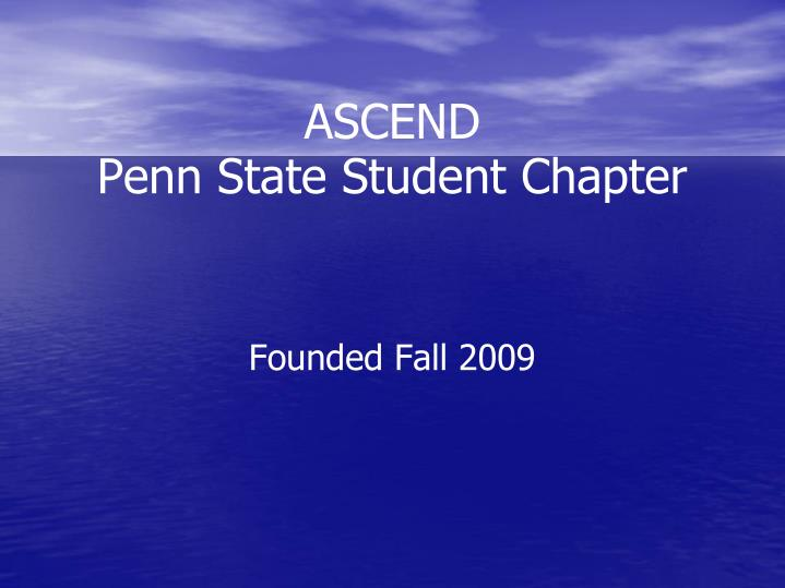 Ascend penn state student chapter
