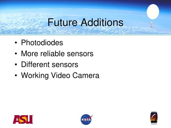 Future Additions