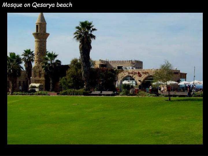 Mosque on Qesarya beach