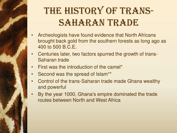 history of trans saharan trade