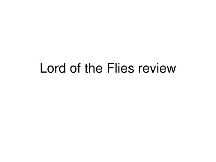 lord of the flies review n.