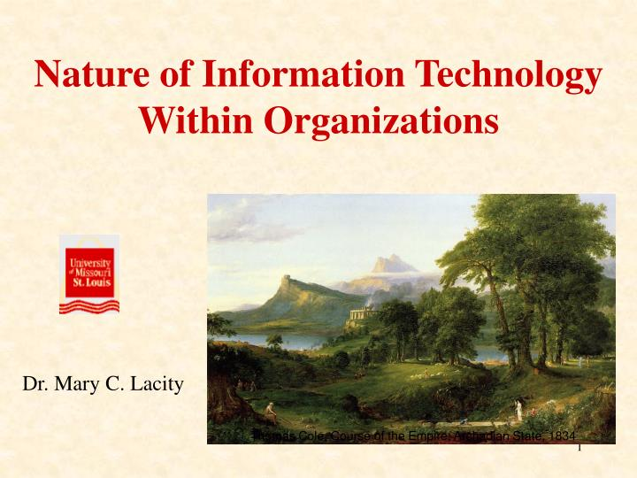 nature of information technology within organizations n.