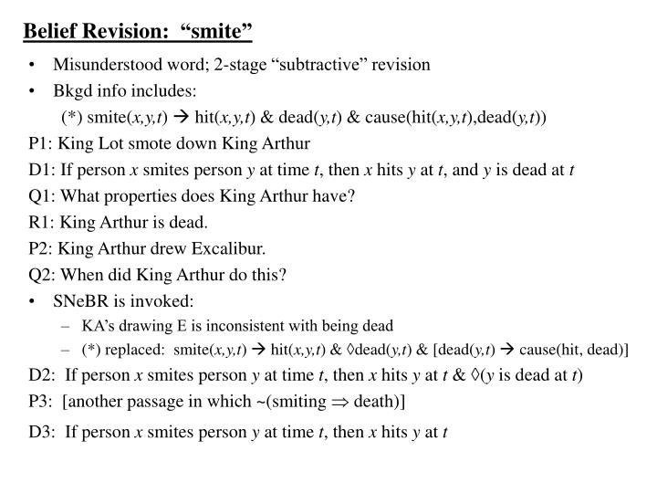 "Belief Revision:  ""smite"""