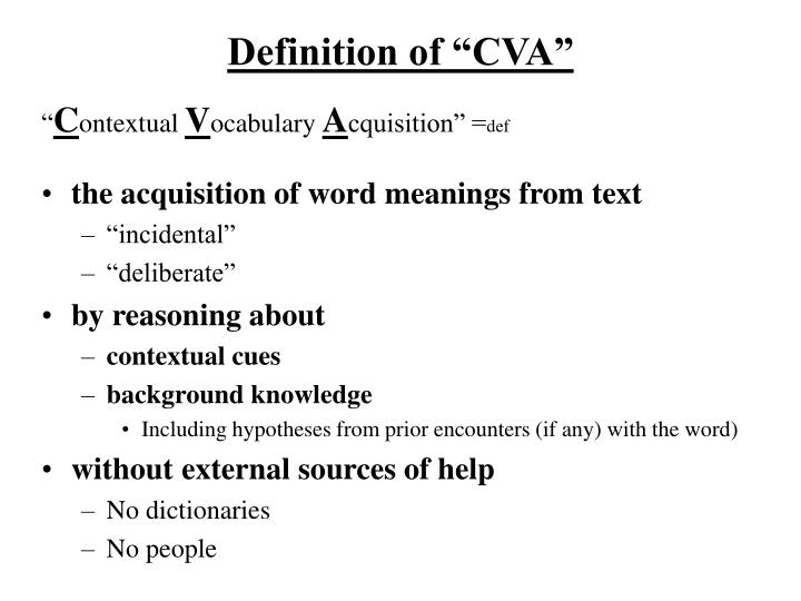 Definition of cva