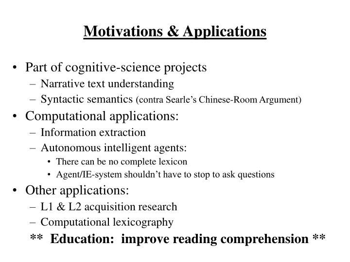 Motivations & Applications