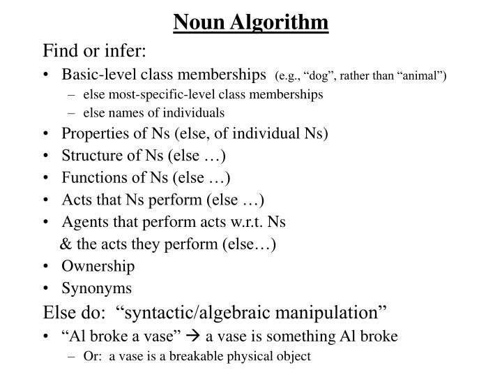 Noun Algorithm