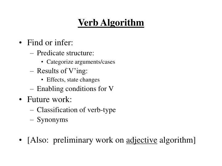 Verb Algorithm