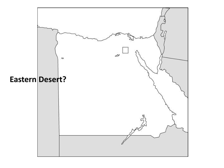 Eastern Desert?