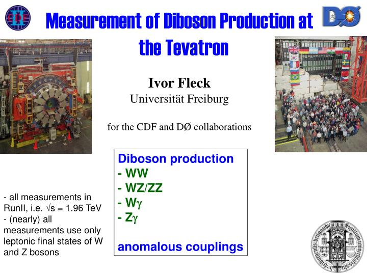 measurement of diboson production at the tevatron n.