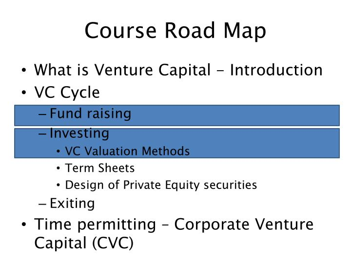 Course road map