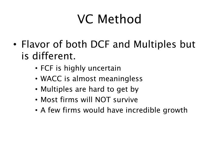 VC Method