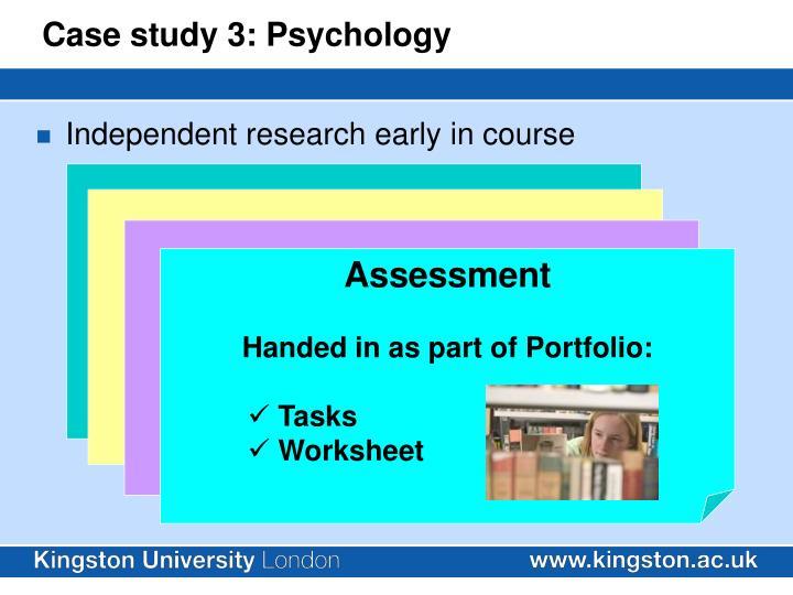 Case study 3: Psychology