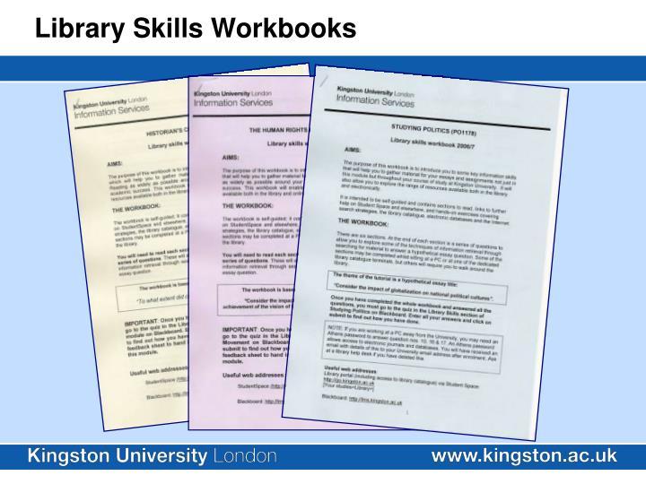 Library Skills Workbooks