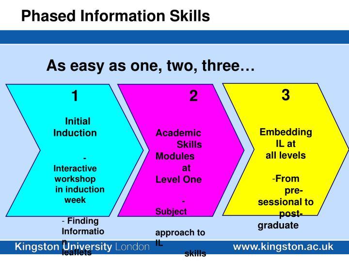 Phased Information Skills