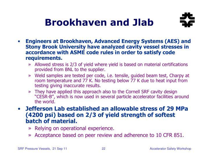 Brookhaven and Jlab