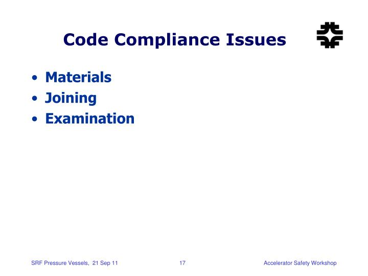 Code Compliance Issues