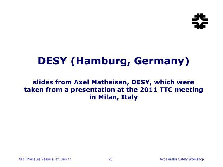 DESY (Hamburg, Germany)