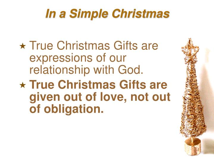 In a Simple Christmas