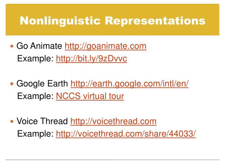 Nonlinguistic Representations