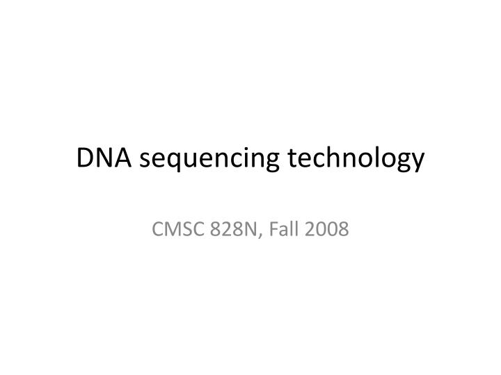 dna sequencing technology n.