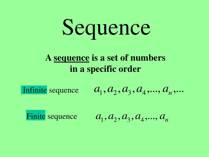 sequence n.