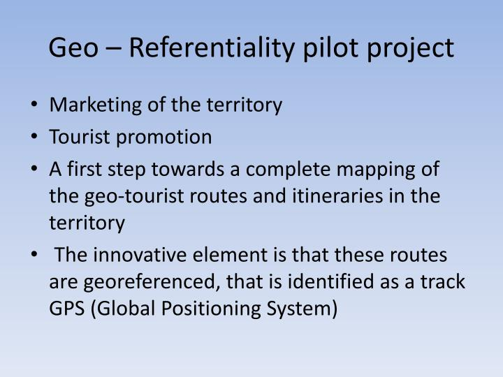 Geo – Referentiality pilot project