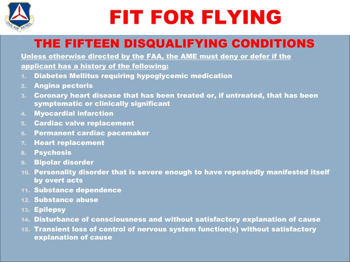 FIT FOR FLYING
