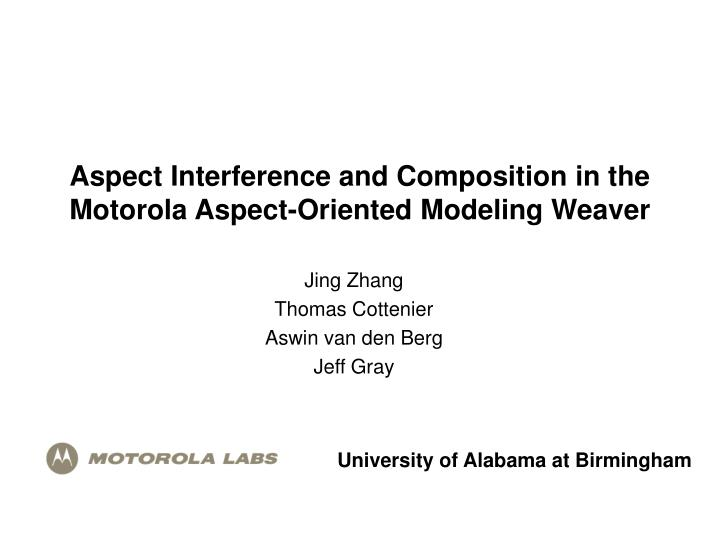 aspect interference and composition in the motorola aspect oriented modeling weaver n.
