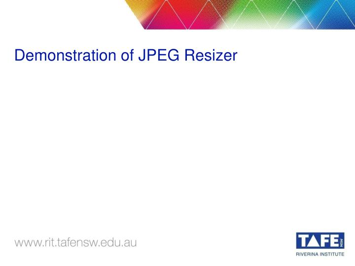 Demonstration of JPEG Resizer