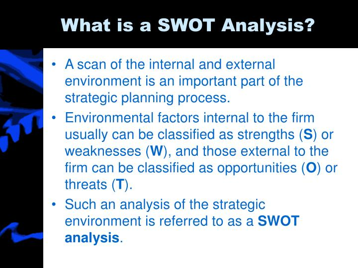 What is a swot analysis