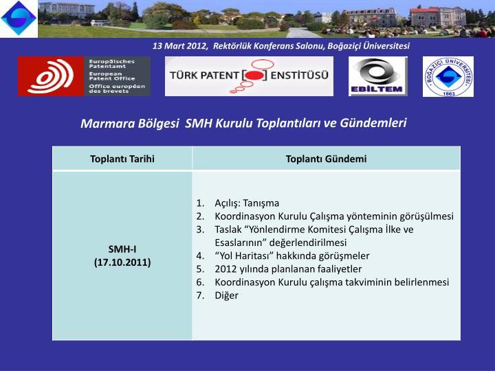 13 Mart 2012,  Rektörlük Konferans Salonu, Boğaziçi Üniversitesi