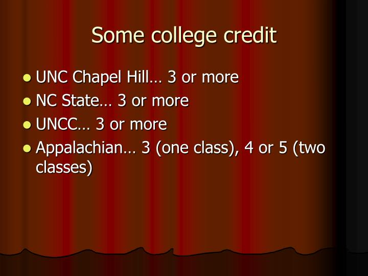 Some college credit