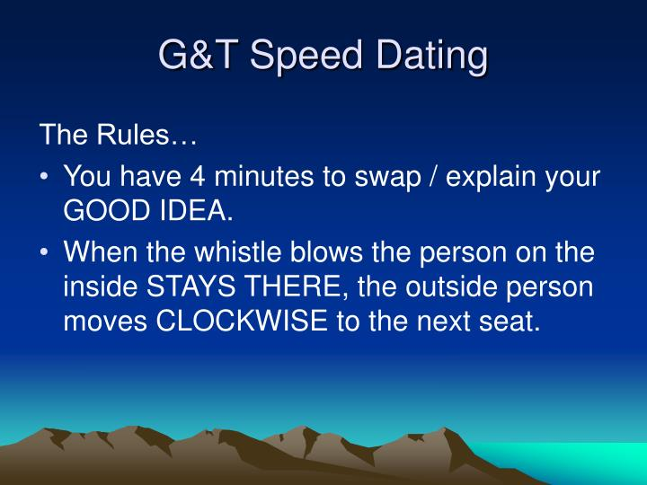 Speed dating marlow