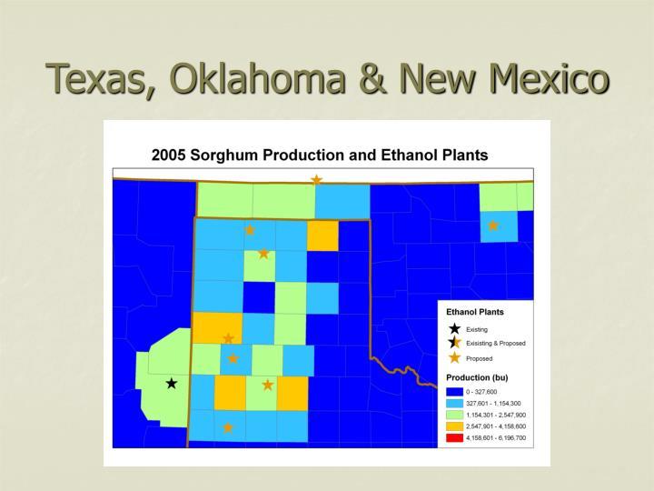 Texas, Oklahoma & New Mexico