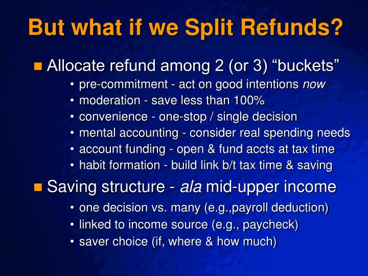 But what if we Split Refunds?