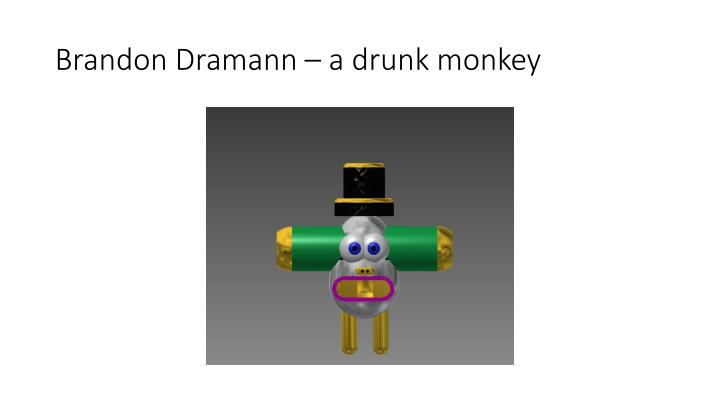 Brandon Dramann – a drunk monkey