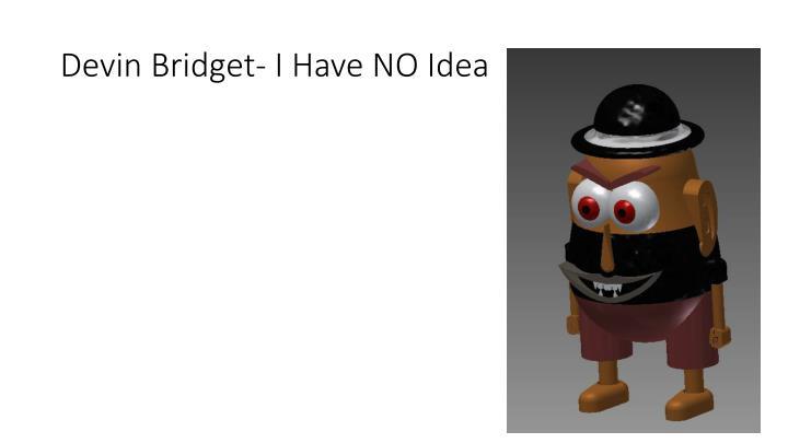 Devin Bridget- I Have NO Idea