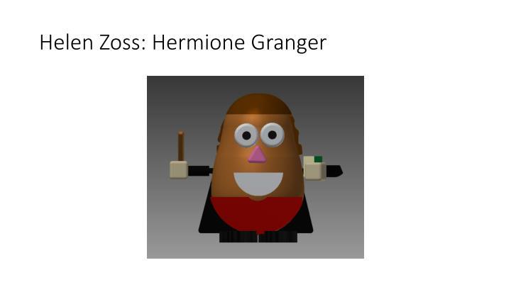 Helen Zoss: Hermione Granger