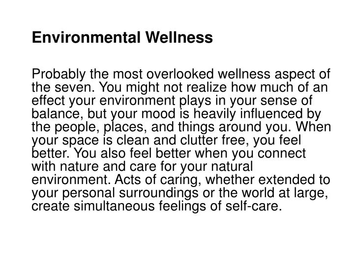 Environmental Wellness