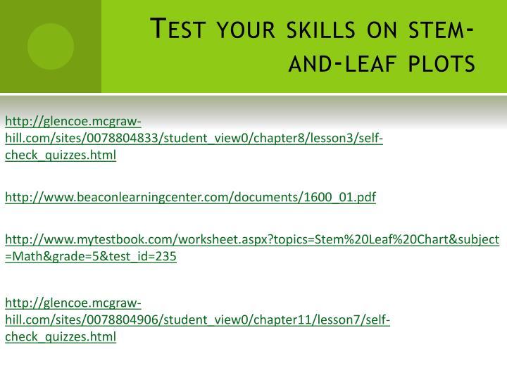 Test your skills on stem-and-leaf plots