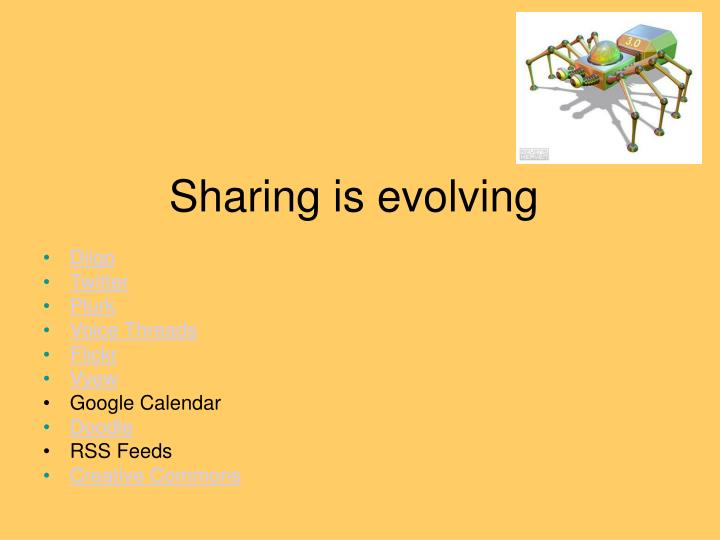 Sharing is evolving