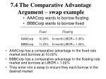 7 4 the comparative advantage argument swap example