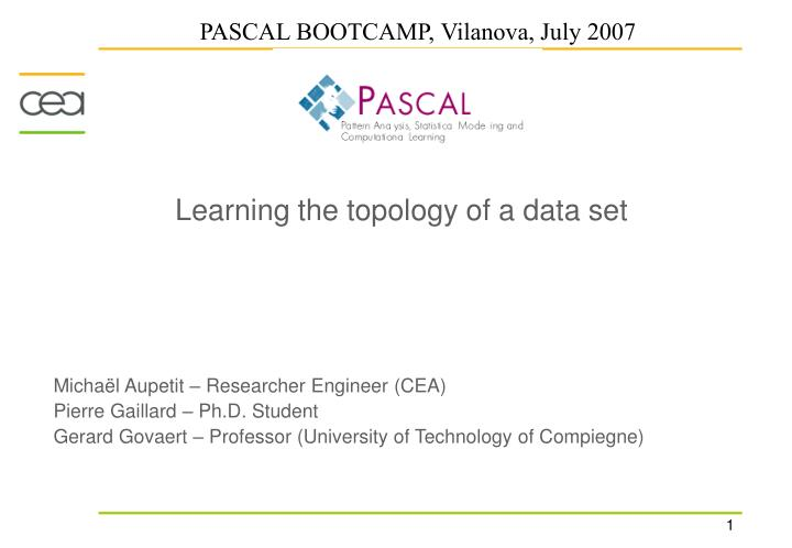 learning the topology of a data set n.