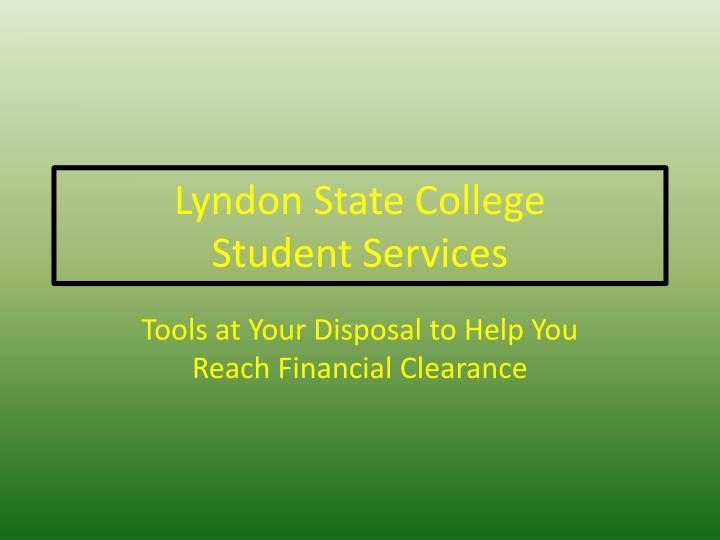 lyndon state college student services n.