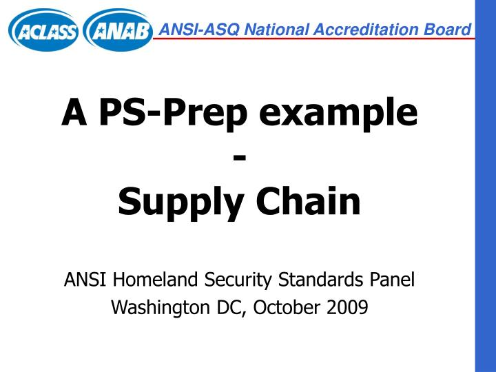 a ps prep example supply chain n.