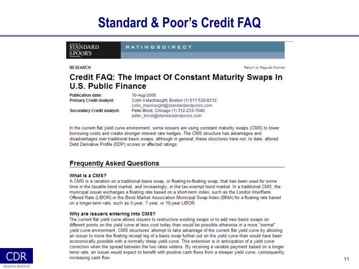 Standard & Poor's Credit FAQ
