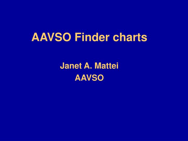 aavso finder charts n.