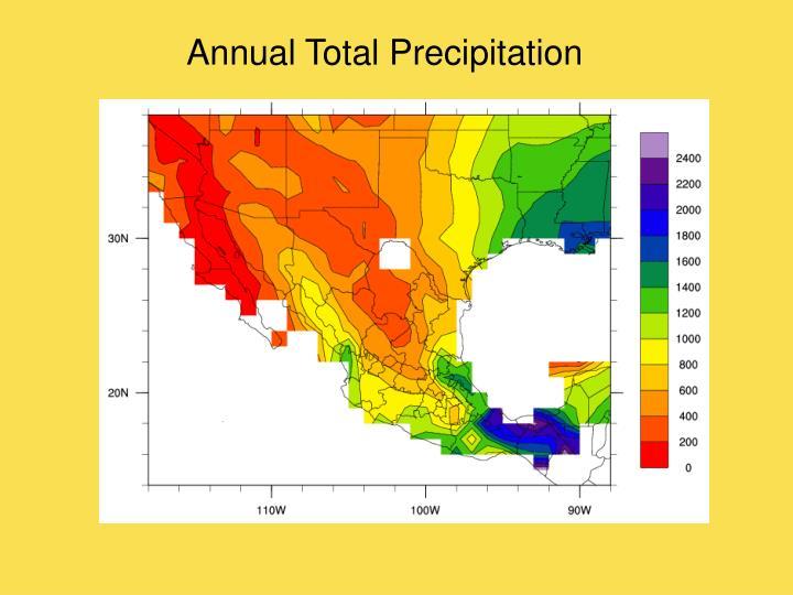 Annual Total Precipitation