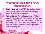 process for releasing false responsibility