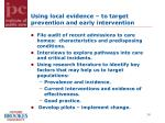 using local evidence to target prevention and early intervention3